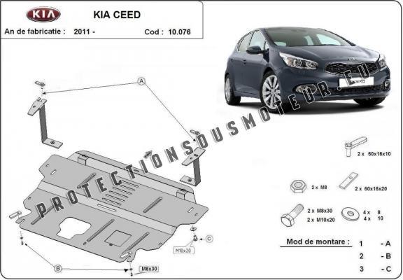 protection sous moteur et de la bo u00eete de vitesse kia ceed