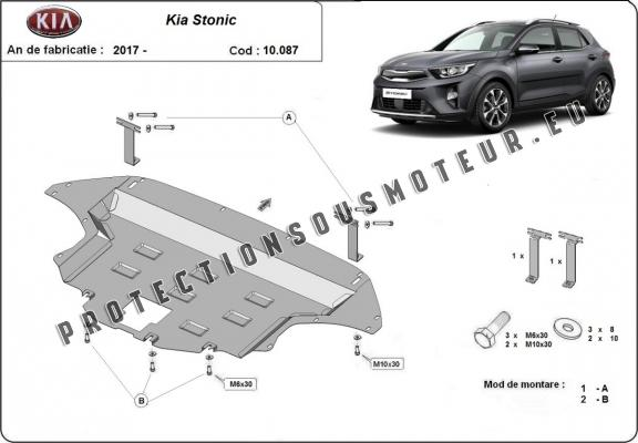 protection sous moteur et de la bo te de vitesse kia stonic. Black Bedroom Furniture Sets. Home Design Ideas
