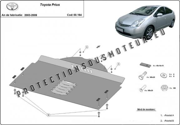 Protection convertisseur catalytique/cat lock Toyota Prius